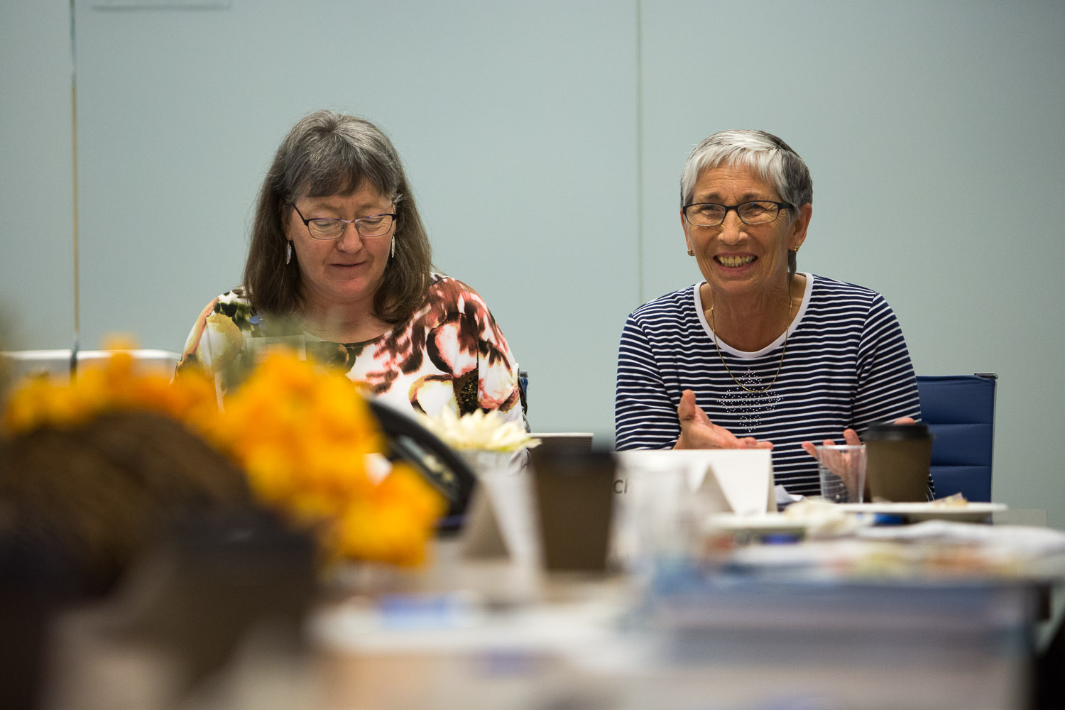Caption: Chris Kensit (right) participating in the Society's Experience of Dementia Across Cultures event in Fall 2018