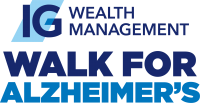 Logo for IG Wealth Management Walk for Alzheimer's