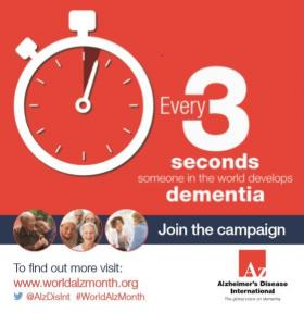 world alzheimer's month every 3 seconds